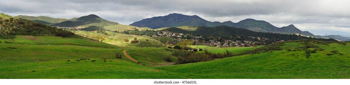 A panorama view of the Santa Monica Mountains. A 12 shots stitched pano.