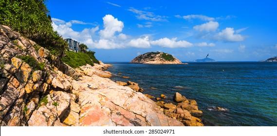 Panorama View of Shek O Beach Hong Kong