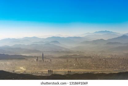 Panorama view of Taipei city