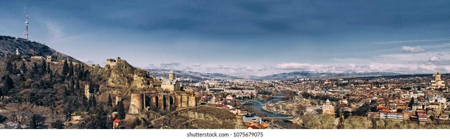 Panorama view Tbilisi - Georgia
