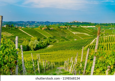 Panorama of vineyards in Canelli (Asti, Piedmont, Italy), Langhe and Monferrato area, renowned for the production of wine and World Heritage Site.