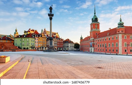 Panorama of Warsaw old town, Poland - Shutterstock ID 1687436779