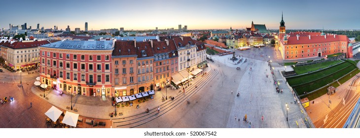 Panorama of Warsaw old town, Poland - Shutterstock ID 520067542