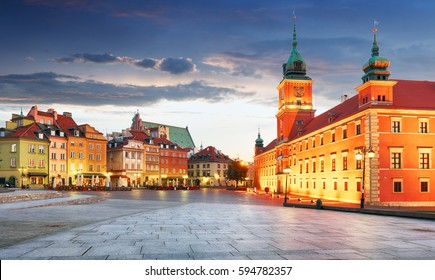 Panorama of Warsaw old town, Poland - Shutterstock ID 594782357