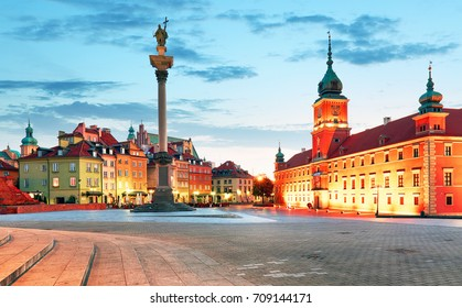 Panorama of Warsaw old town, Poland - Shutterstock ID 709144171