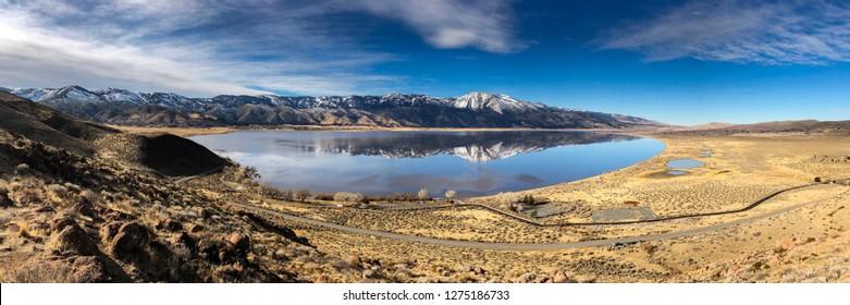 Panorama of Washoe Lake in Northern Nevada