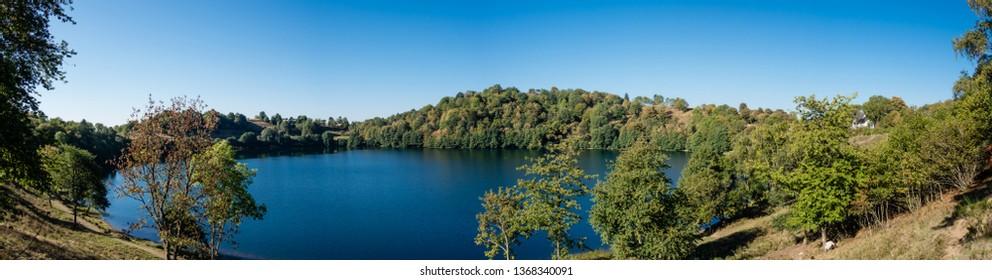 Panorama Weinfelder Maar near Daun Eifel Germany