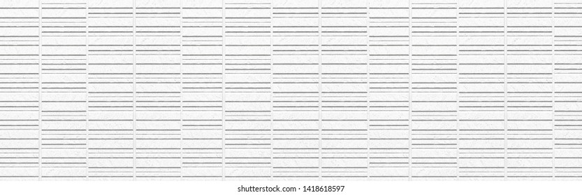 Panorama of White cement wall modern design texture and seamless background