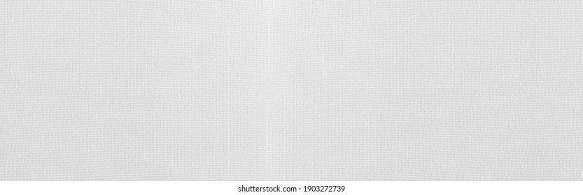 Panorama of White cotton pattern texture and background seamless
