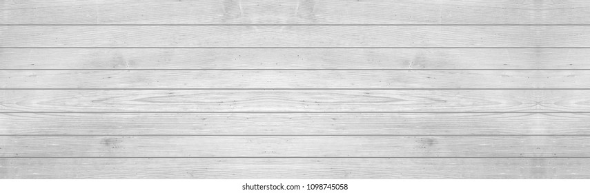 Panorama of white hardwood background and texture