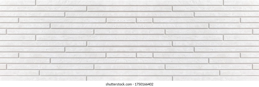 Panorama of White modern wall texture and seamless background