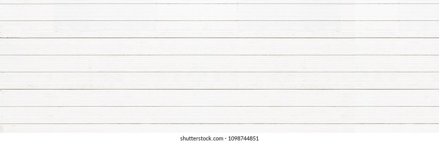 Panorama of white vintage wood wall background