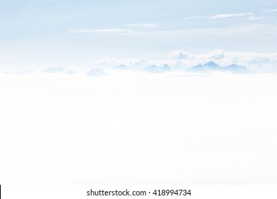 Panorama Wide View Glacier Ice Snow Field