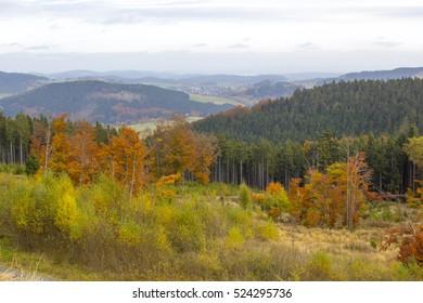 Panorama of Willingen in the Sauerland region (Germany)
