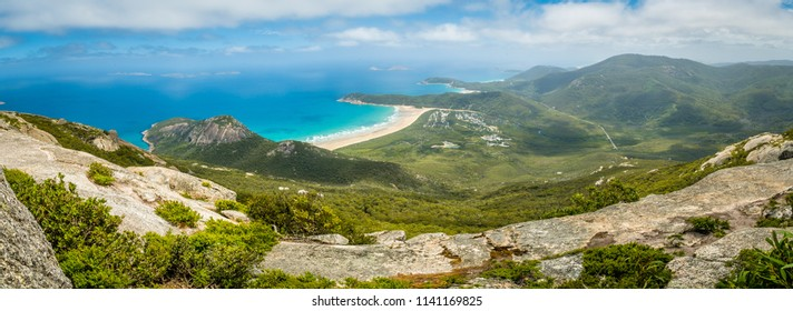 Panorama of Wilsons promontory national park in Victoria, Australia
