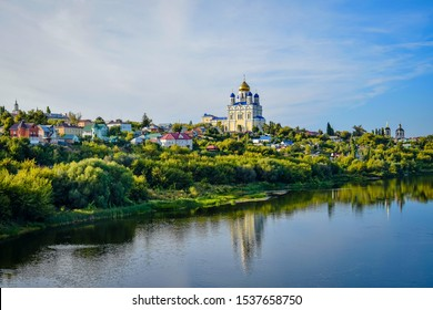 Panorama of Yelets in the evening