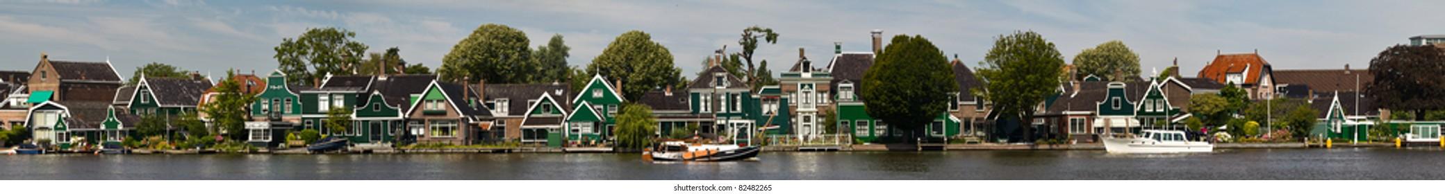 Panorama Zansee in Holland