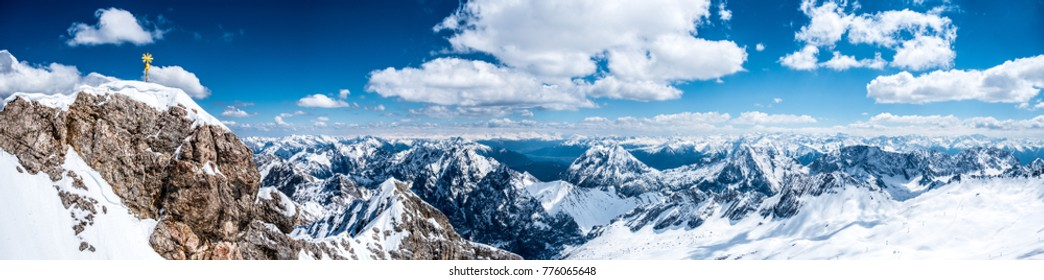 Panorama from the Zugspitze