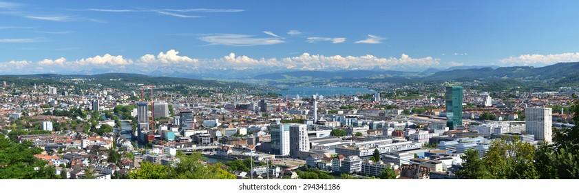 Panorama of Zurich, Switzerland