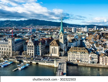 Panorama of Zurich, Switzerland.