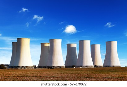 Panoramatic view of Nuclear power plant Jaslovske Bohunice - Slovakia