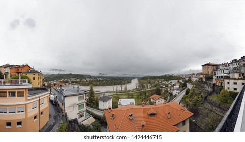 Panorame from the centre of Belluno. Italy. Europe