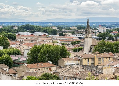 Panoramic aerial view of Avignon. Avignon - the historic capital of Provence, commune in southeastern France.