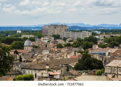 Panoramic aerial view of Avignon. Avignon - the historic capital of Provence, commune in south-eastern France.