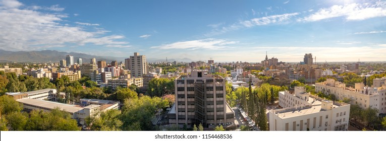 Panoramic Aerial view of Mendoza City - Mendoza, Argentina