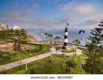 Panoramic aerial view of Miraflores Fare