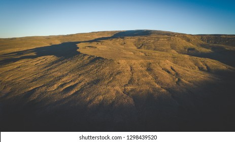 Panoramic Aerial view over the Karoo region in South Africa