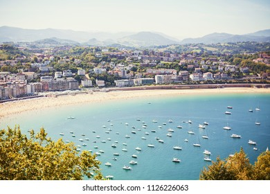 Panoramic aerial view of San Sebastian