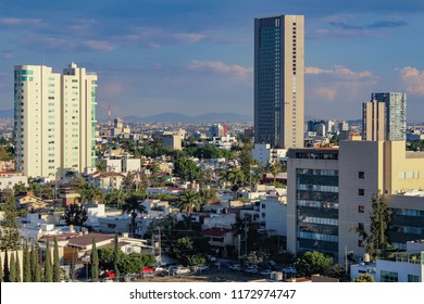 Panoramic afternoon view of the city of Guadalajara, in the state of Jalisco, Mexico. Capital for the Tequila.