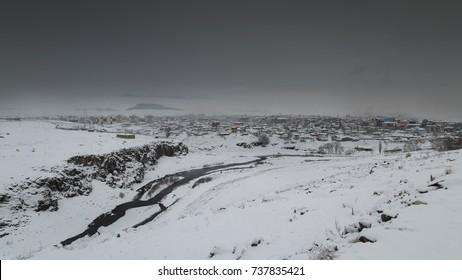 Panoramic Ardahan winter season view, Ardahan - Turkey