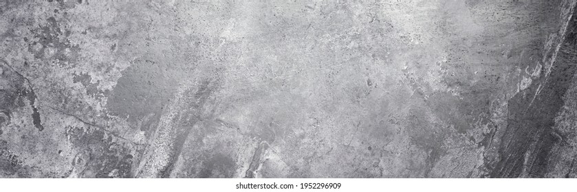 Panoramic background - old concrete wall with cracks