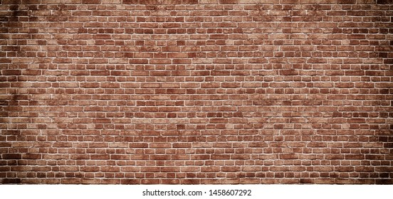 Panoramic background of wide old white brick wall texture. Home or office design backdrop