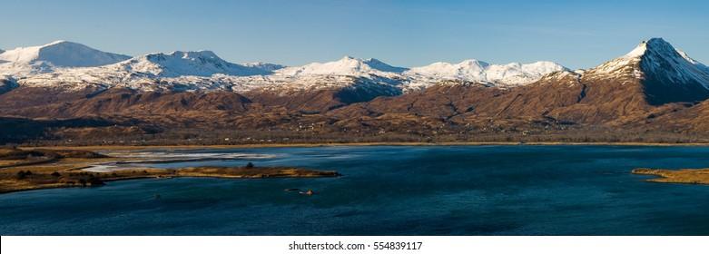 Panoramic of bay in Kodiak Alaska