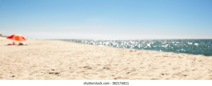 panoramic beach defocused abstract background blur