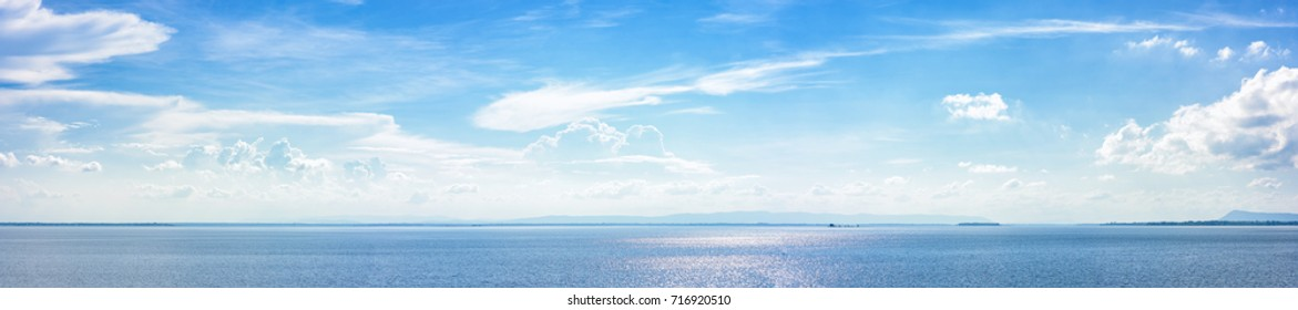Panoramic beautiful seascape with cloud on a sunny day. - Shutterstock ID 716920510