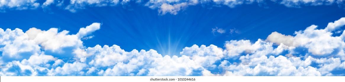 panoramic blue sky