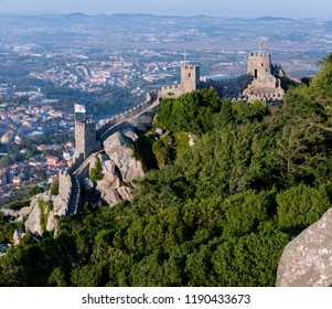 Panoramic of the Castelo dos Mouros in Sintra. Portugal