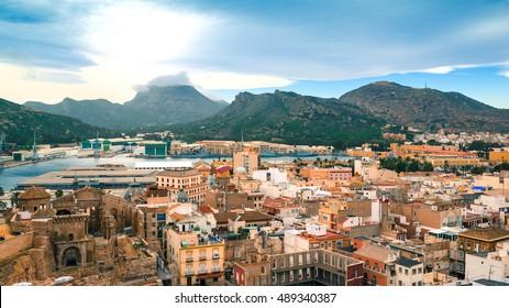 Панорамный город Картахена, Испания