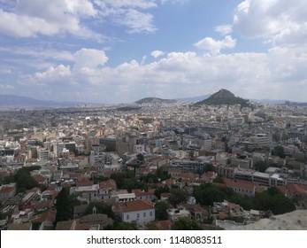 Panoramic City View of Athens Greece