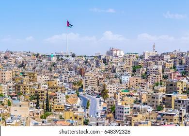 Panoramic cityscape of Amman, Jordan