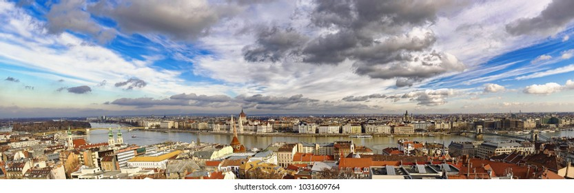 Panoramic cityscape of Budapest - Hungary