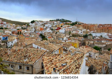 Panoramic cityscape of Cuenca town in Spain
