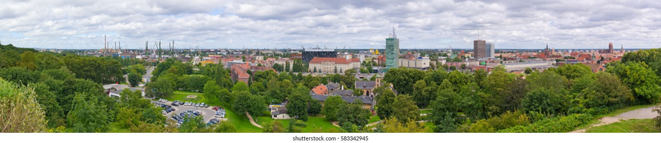 Panoramic cityscape of Gdansk - Poland