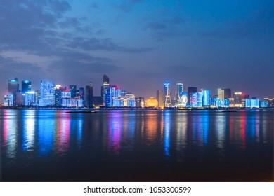 panoramic cityscape in hangzhou china