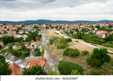 The panoramic cityscape of the old historic center with traditional Hungarian architecture in Veszprem, medieval capital of Hungary located near famous resort Lake Balaton