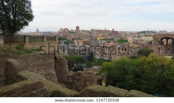 Panoramic cityscape of Rome, Italy